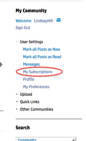My Subscriptions
