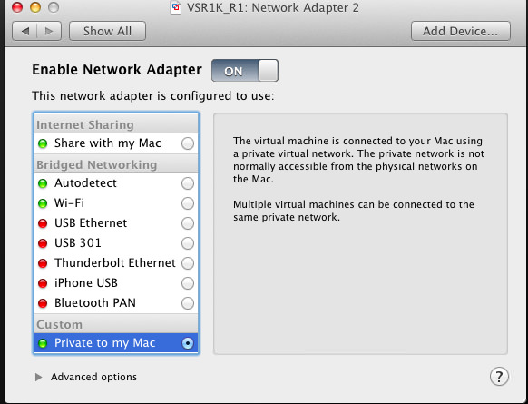 Network Adapter Settings