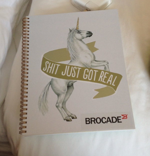 Brocade Unicorn Notebook